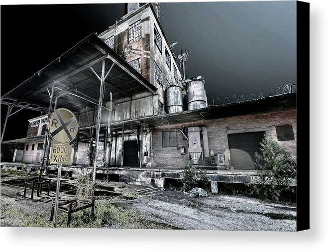 Canvas Print featuring the photograph Old Train Station by Calvin Smith