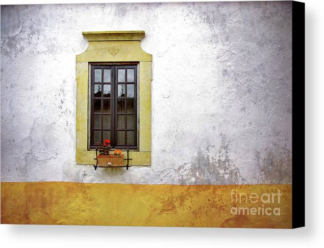 Address Canvas Print featuring the photograph Old Window by Carlos Caetano
