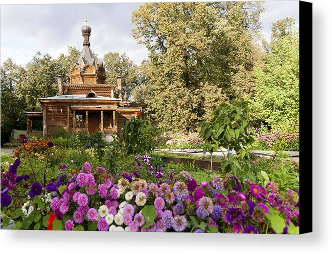 Wooden Canvas Print featuring the photograph Old Wooden Russian Orthodox Church by Aleksandr Volkov