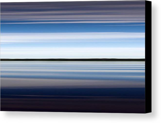 Dreamy Canvas Print featuring the photograph On The Water Abstract by Gary Eason