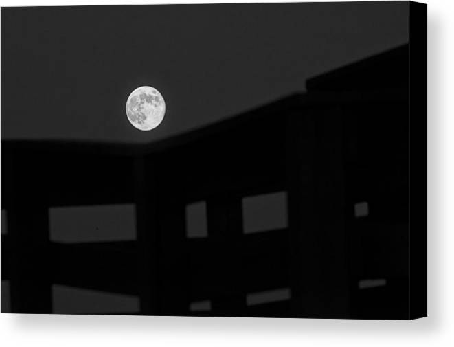 B/w Canvas Print featuring the photograph One Small Step For A Man by Melany Sarafis