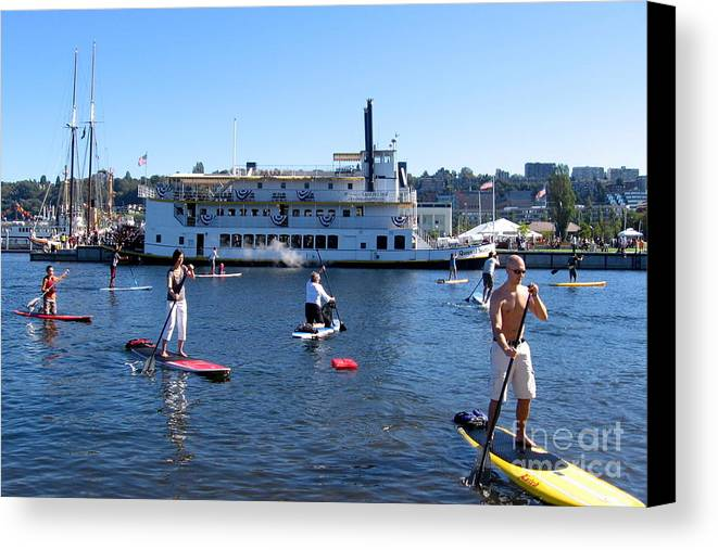 Summer Canvas Print featuring the photograph One Summer Day No. 1 by Kazumi Whitemoon