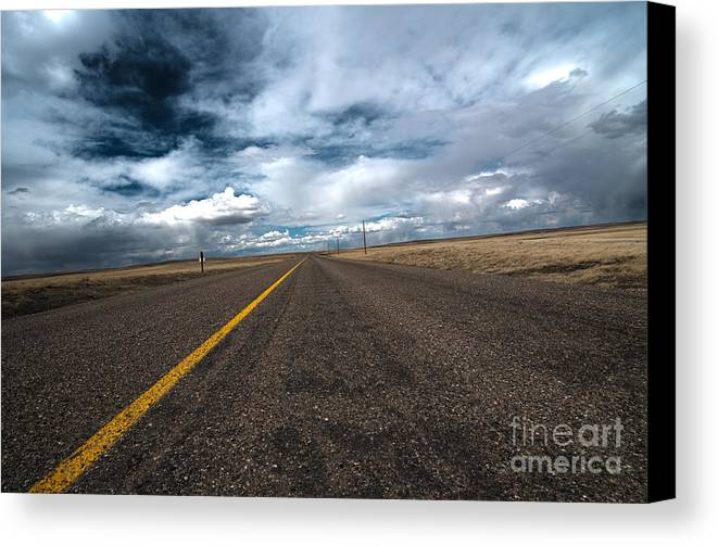 Scenic Drive Canvas Print featuring the photograph Open Highway by Arjuna Kodisinghe