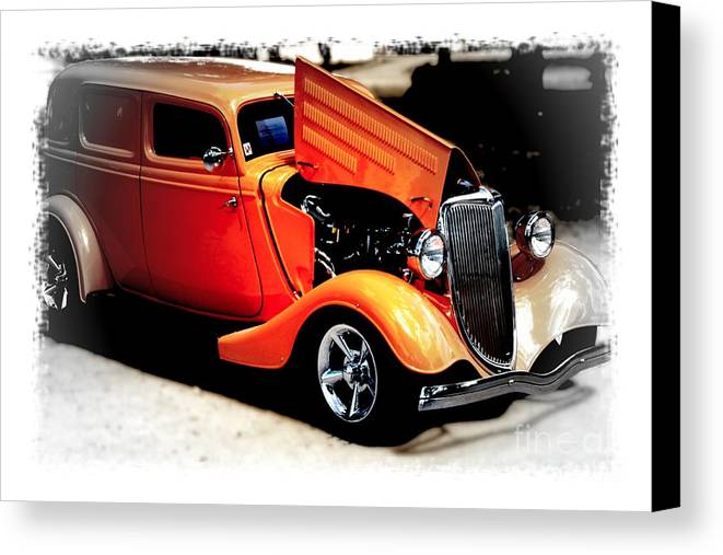 Orange Canvas Print featuring the photograph Orange Lighting II - No.9188 by Joe Finney