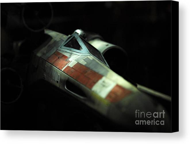 X-wing Canvas Print featuring the photograph Original X-wing by Micah May