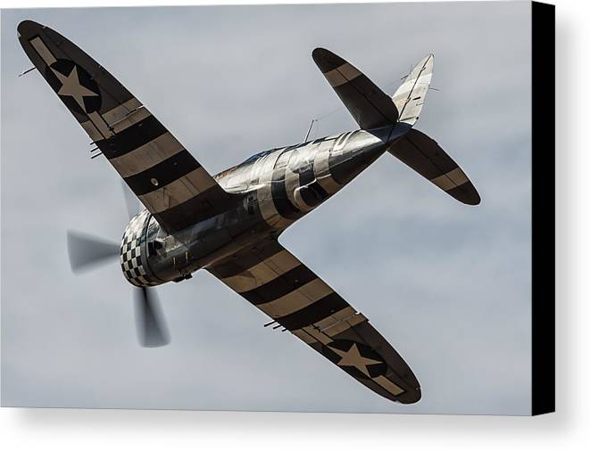 P47 Thunderbolt Canvas Print featuring the photograph P47 Thunderbolt Snafu #4 by Tim Croton