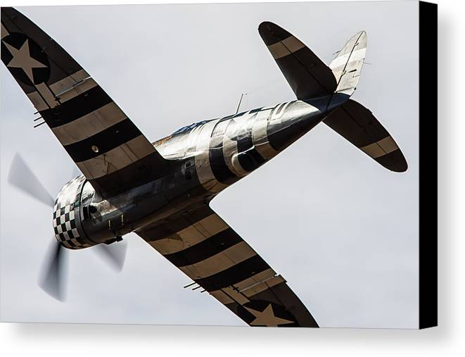 P47 Thunderbolt Canvas Print featuring the photograph P47 Thunderbolt Snafu #5 by Tim Croton