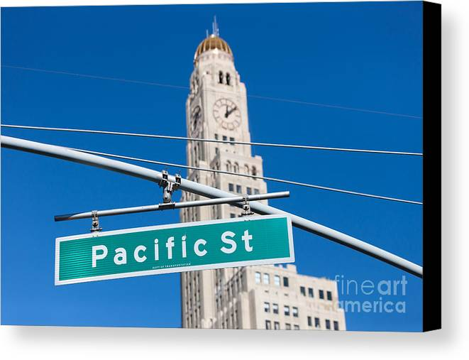 Clarence Holmes Canvas Print featuring the photograph Pacific Street I by Clarence Holmes