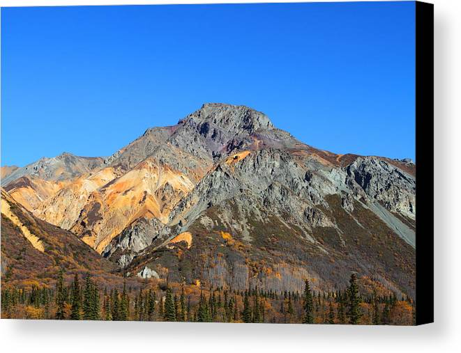 Doug Lloyd Canvas Print featuring the photograph Painted Mountains by Doug Lloyd
