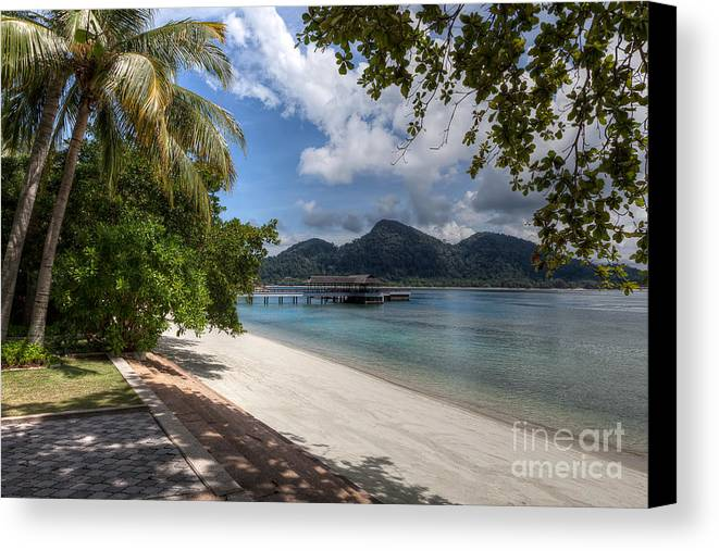 Beach Canvas Print featuring the photograph Paradise Island by Adrian Evans