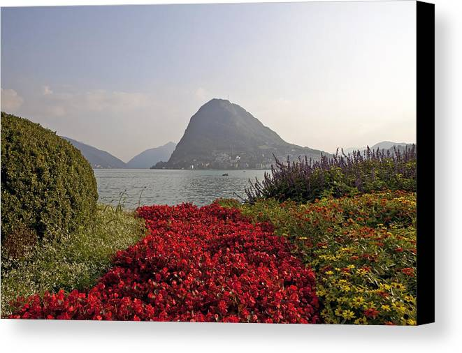 Lugano Canvas Print featuring the photograph Parco Civico Lugano by Joana Kruse