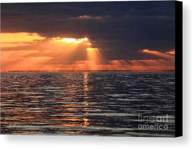 North Carolina Outer Banks Canvas Print featuring the photograph Peaking Through The Clouds by Adam Jewell