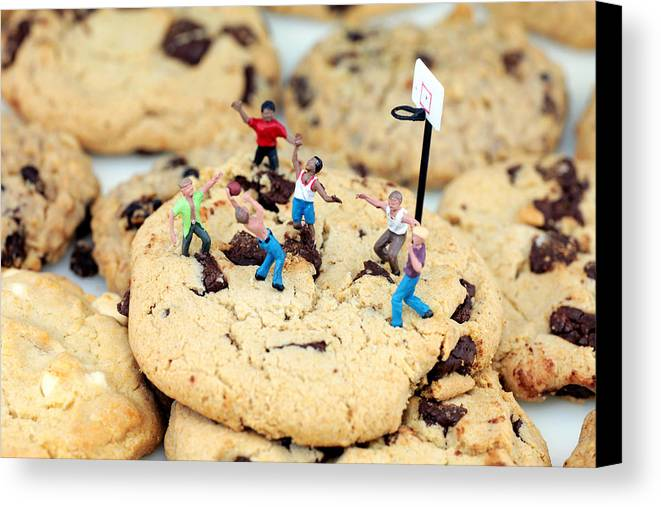 Play Canvas Print featuring the photograph Playing Basketball On Cookies II by Paul Ge
