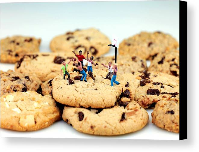 Play Canvas Print featuring the photograph Playing Basketball On Cookies by Paul Ge