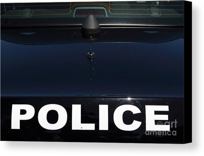 Kensington Canvas Print featuring the photograph Police . 7d15883 by Wingsdomain Art and Photography