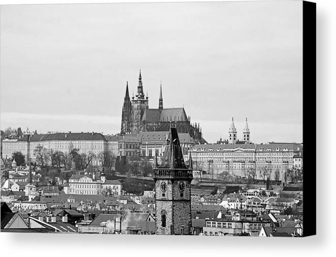 Prague Canvas Print featuring the photograph Prague - City Of A Hundred Spires by Christine Till