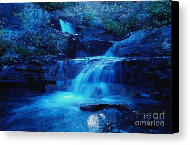 Water Canvas Print featuring the photograph Quaint Falls by Jeff Swan