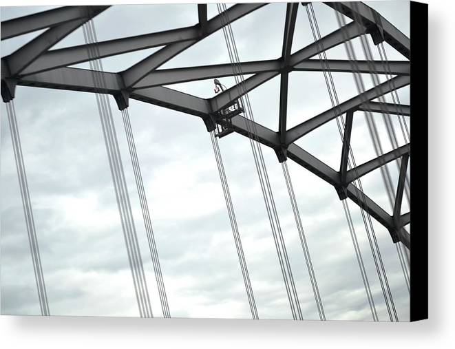 Rainy Day Canvas Print featuring the photograph Rainy Day Geometry 2 by Kim Hymes