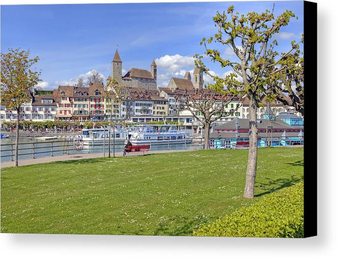 Rapperswil Canvas Print featuring the photograph Rapperswil by Joana Kruse
