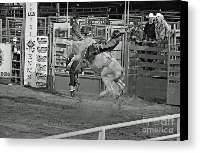 Bull Riding Canvas Print featuring the photograph Ride 'em Cowboy by Shawn Naranjo