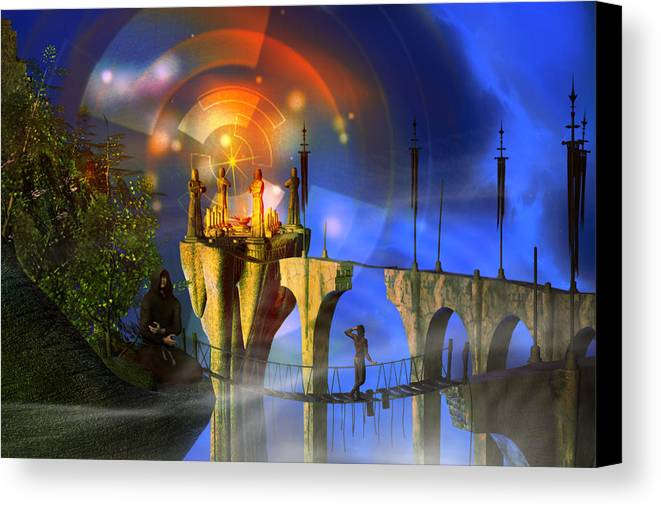 Rite Of Passage Canvas Print featuring the digital art Rite Of Passage by Shadowlea Is