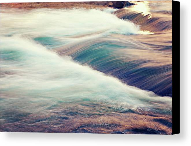Horizontal Canvas Print featuring the photograph River Rapids by Isabelle Lafrance Photography