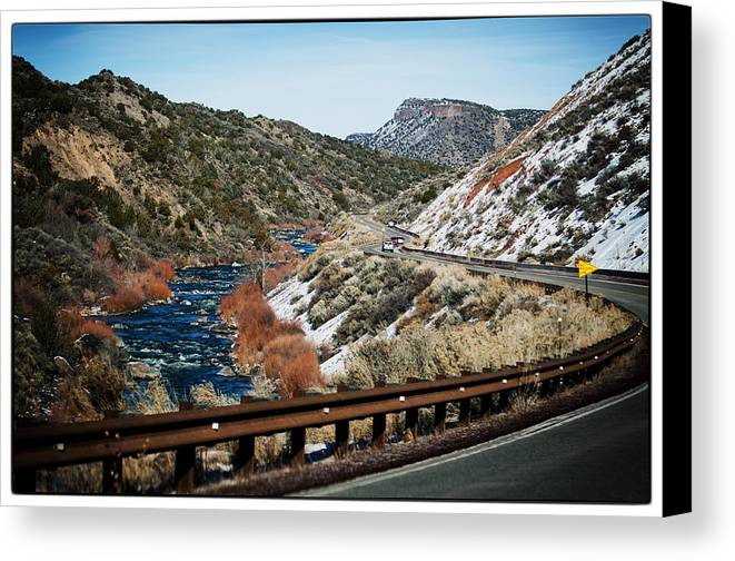 Nature Canvas Print featuring the photograph Road To Taos Village 1 by Lisa Spencer