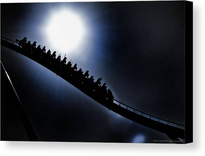 Kings Island Canvas Print featuring the photograph Rollerghoster by Sheri Bartoszek