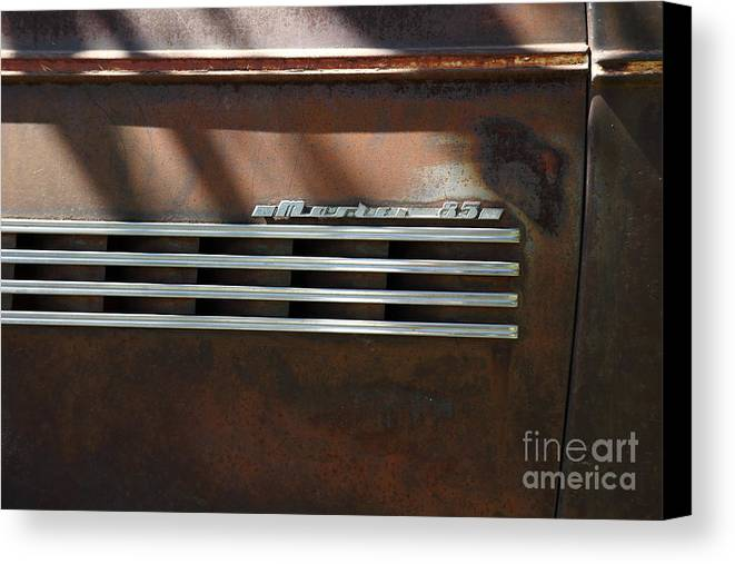 1939 Chevrolet Master 85 Canvas Print featuring the photograph Rusty Old 1939 Chevrolet Master 85 . 5d16198 by Wingsdomain Art and Photography