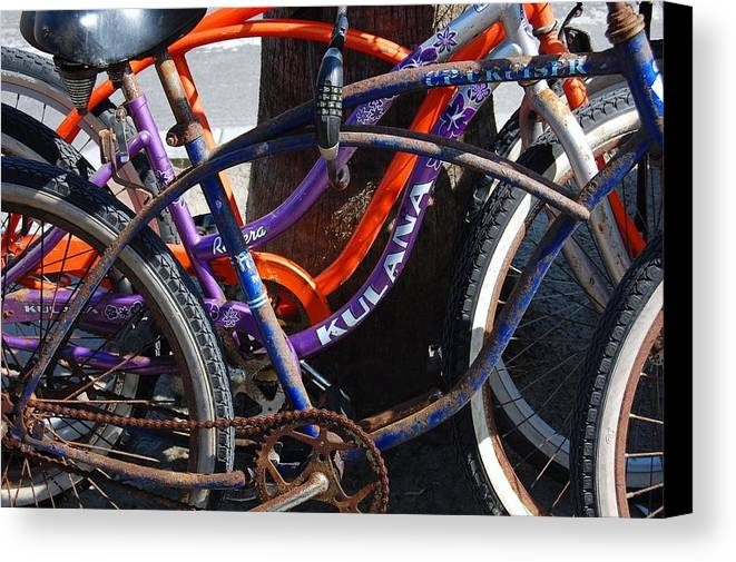 Bike Canvas Print featuring the photograph Saggy Chain by Jame Hayes