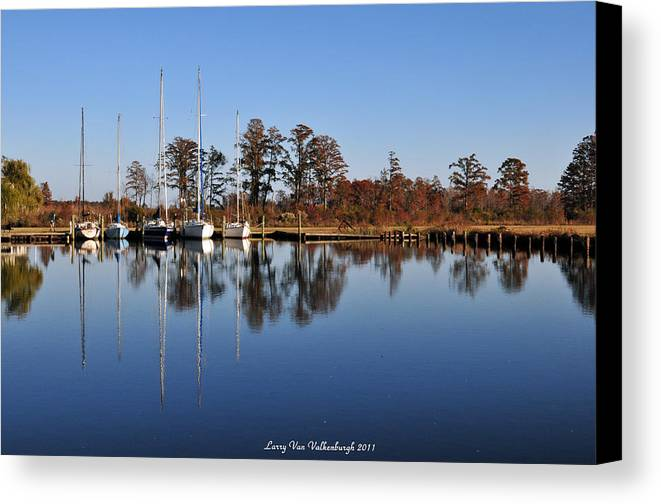 Sailboat Canvas Print featuring the photograph Sailboats by Larry Van Valkenburgh