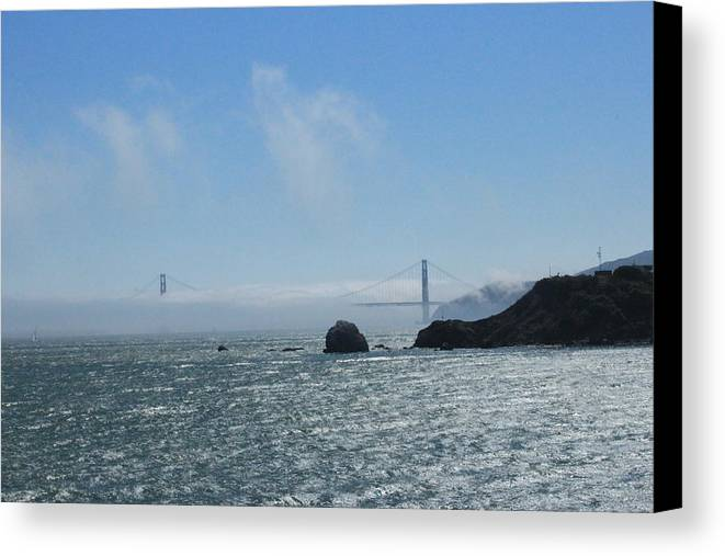 Golden Gate Bridge Canvas Print featuring the photograph San Francisco Collection #12 by Raquel Amaral