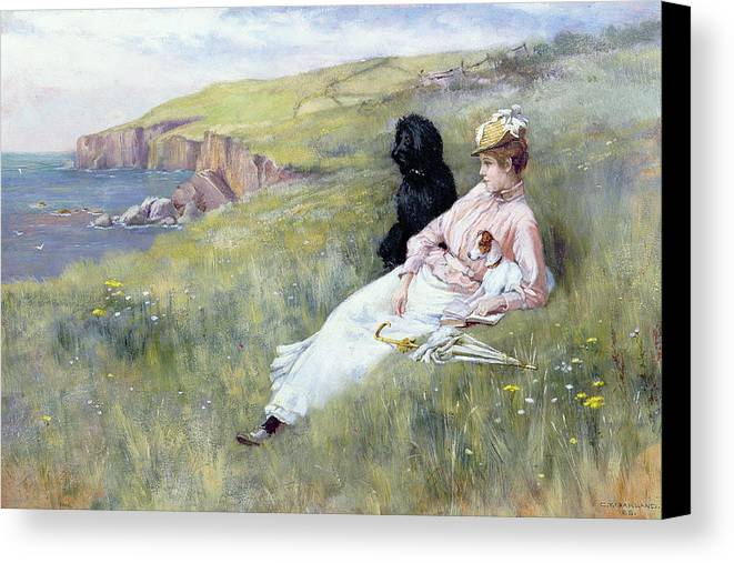 Sea Dreams Canvas Print featuring the painting Sea Dreams by Charles Trevor Garland
