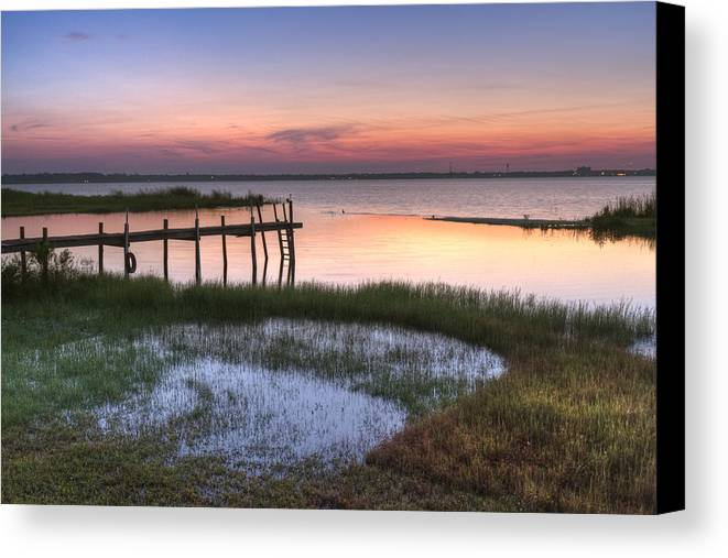 Boats Canvas Print featuring the photograph Sebring Sunrise by Debra and Dave Vanderlaan