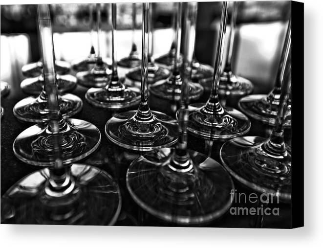 Alcohol Canvas Print featuring the photograph Shadow Of Luxury Glass No.3 by Chavalit Kamolthamanon