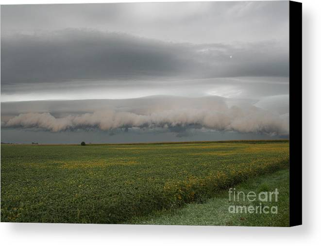 Shelf Canvas Print featuring the photograph Shelf Cloud 5 by Roger Look