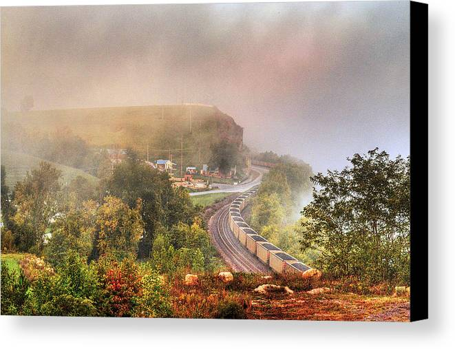 She's Comin' 'round The Bend Canvas Print featuring the photograph She's Comin' 'round The Bend by William Fields