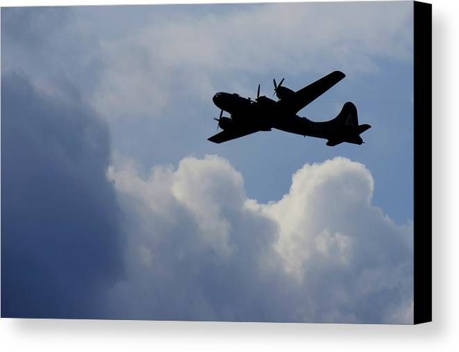 B 29 Canvas Print featuring the photograph Silhouette by Dieter Lesche