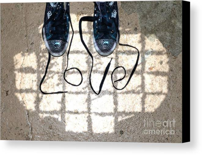 Sneaker Canvas Print featuring the photograph Sneaker Love 1 by Paul Ward