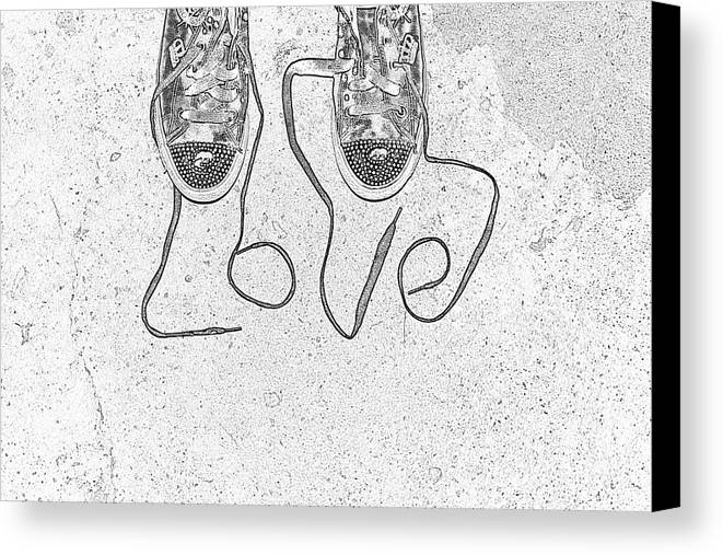 Sneaker Canvas Print featuring the photograph Sneaker Love 2 by Paul Ward