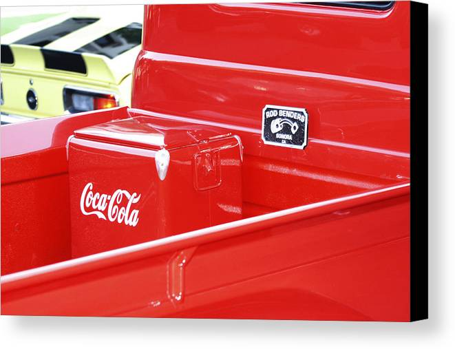 Cola Canvas Print featuring the photograph Soda Pop Truck by Elizabeth Alamillo