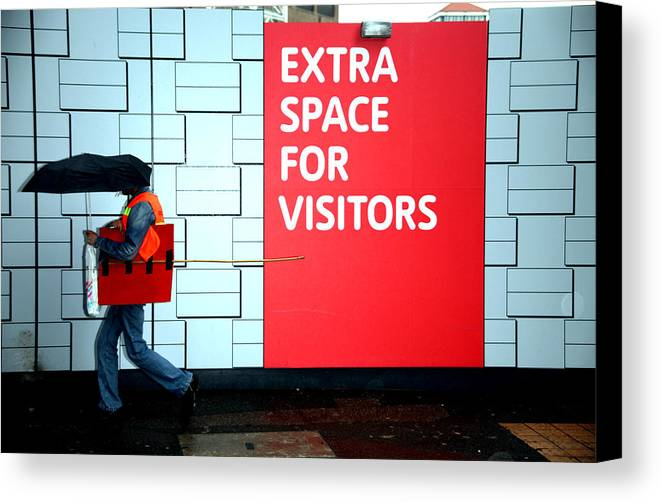 Jezcself Canvas Print featuring the photograph Space For A Brolly by Jez C Self
