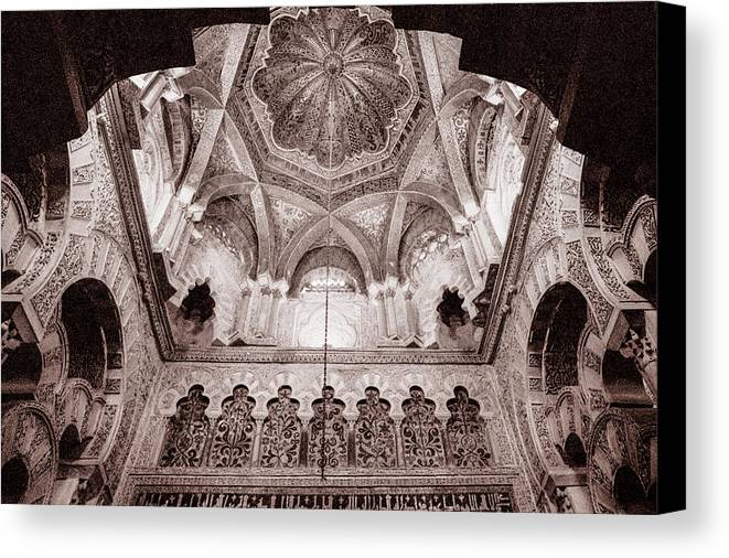 Spain Canvas Print featuring the photograph Spain Cathedral 1 by Mike Penney