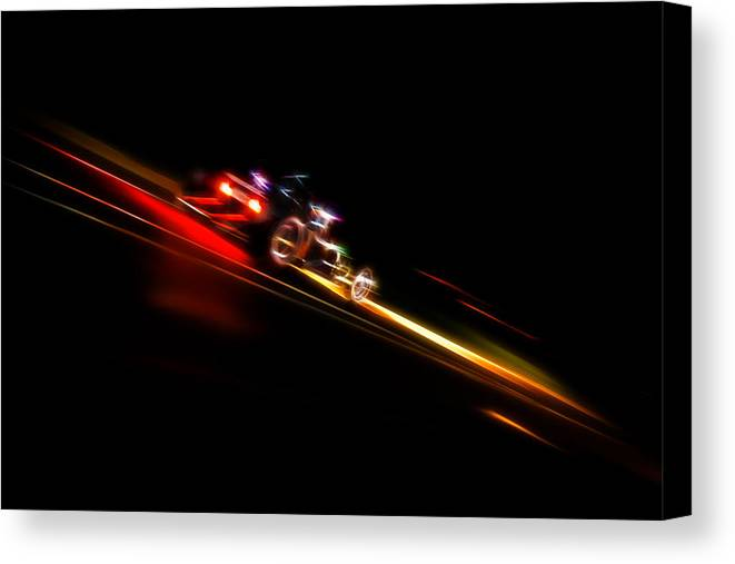 Hot Rod Canvas Print featuring the photograph Speeding Hot Rod by Phil 'motography' Clark