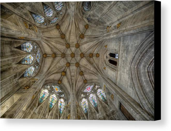 Architecture Canvas Print featuring the photograph St Mary's Ceiling by Adrian Evans