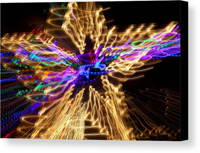 Star Abstract Canvas Print featuring the photograph Star Abstract by Garry Gay