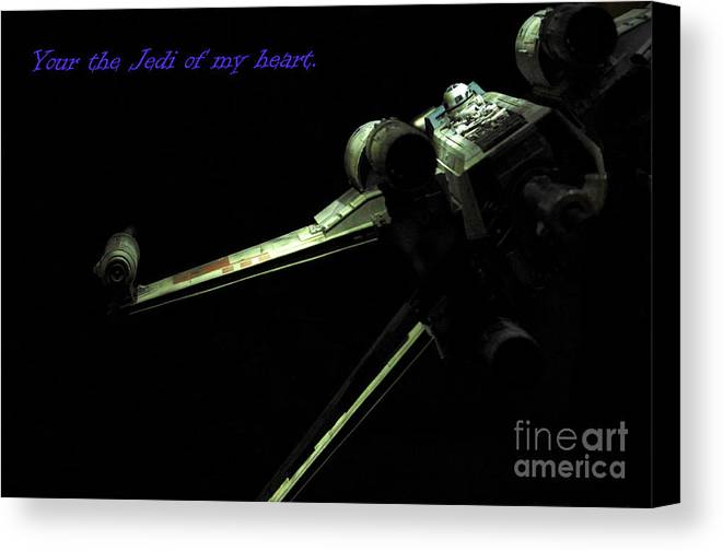 Star Wars Canvas Print featuring the photograph Star Wars Card by Micah May