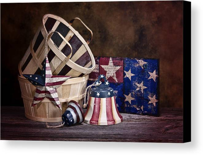 Stars And Stripes Canvas Print featuring the photograph Stars And Stripes Still Life by Tom Mc Nemar