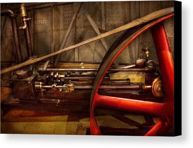 Steampunk Canvas Print featuring the photograph Steampunk - Machine - The Wheel Works by Mike Savad
