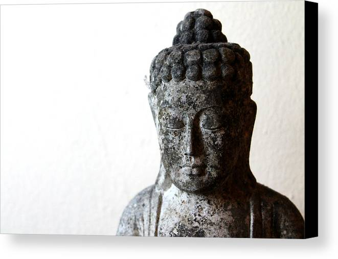 Buddha Canvas Print featuring the photograph Stone Buddha by Janita Topan